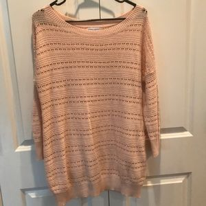 Maternity cream lightweight sweater